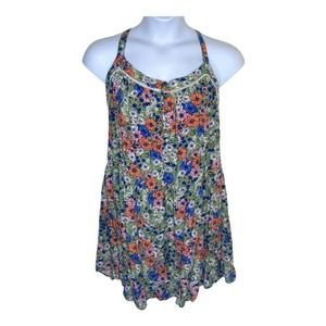 NWT SLEEVELESS FLORAL DRESS WILD FABLE